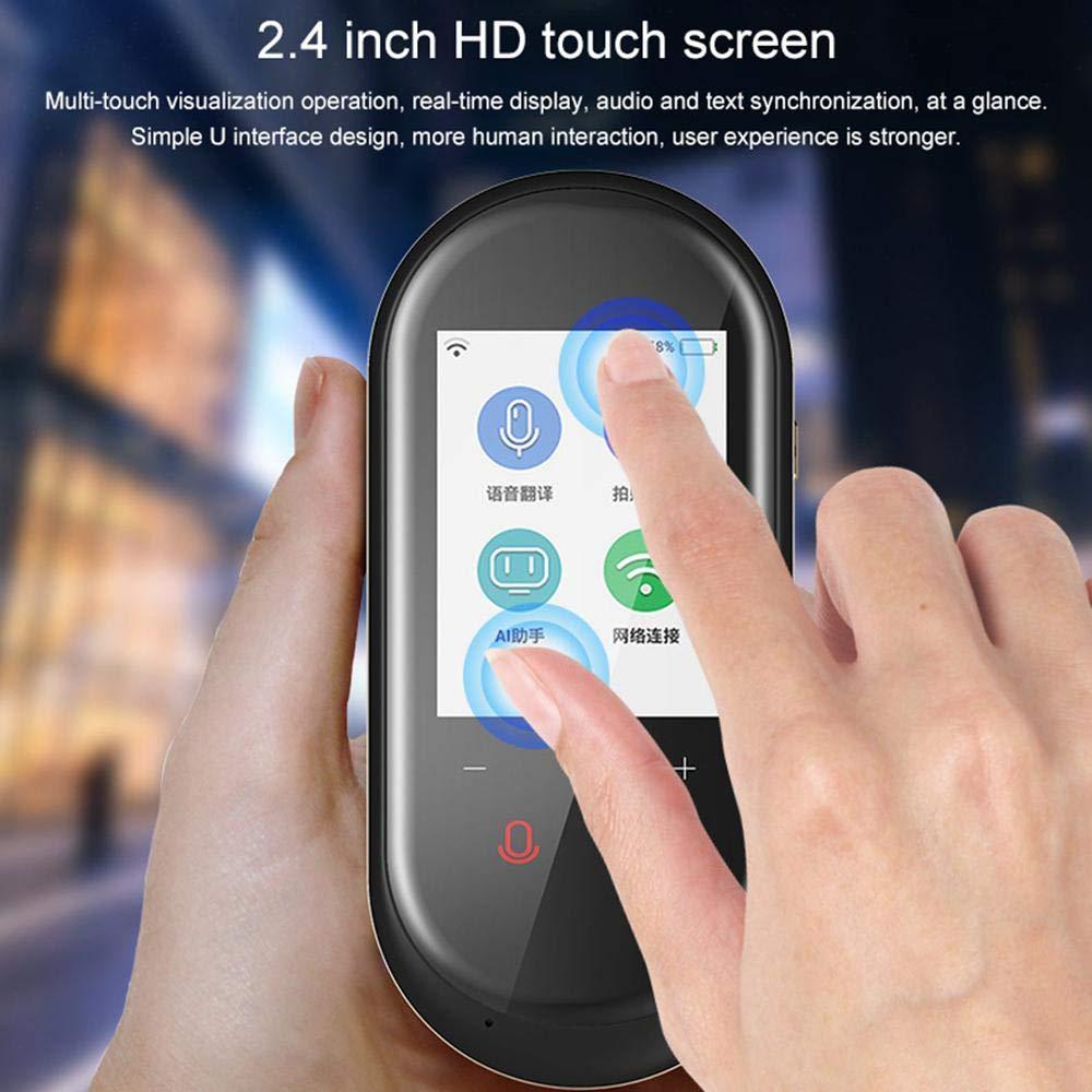 Goglor 106 Lingue Traduttore di lingua Dispositivo con traduzione di macchina traduttore a due vie Easy Smart Traduttore di linguaggio vocale istantaneo in tempo reale con touch screen da 2,4 pollici