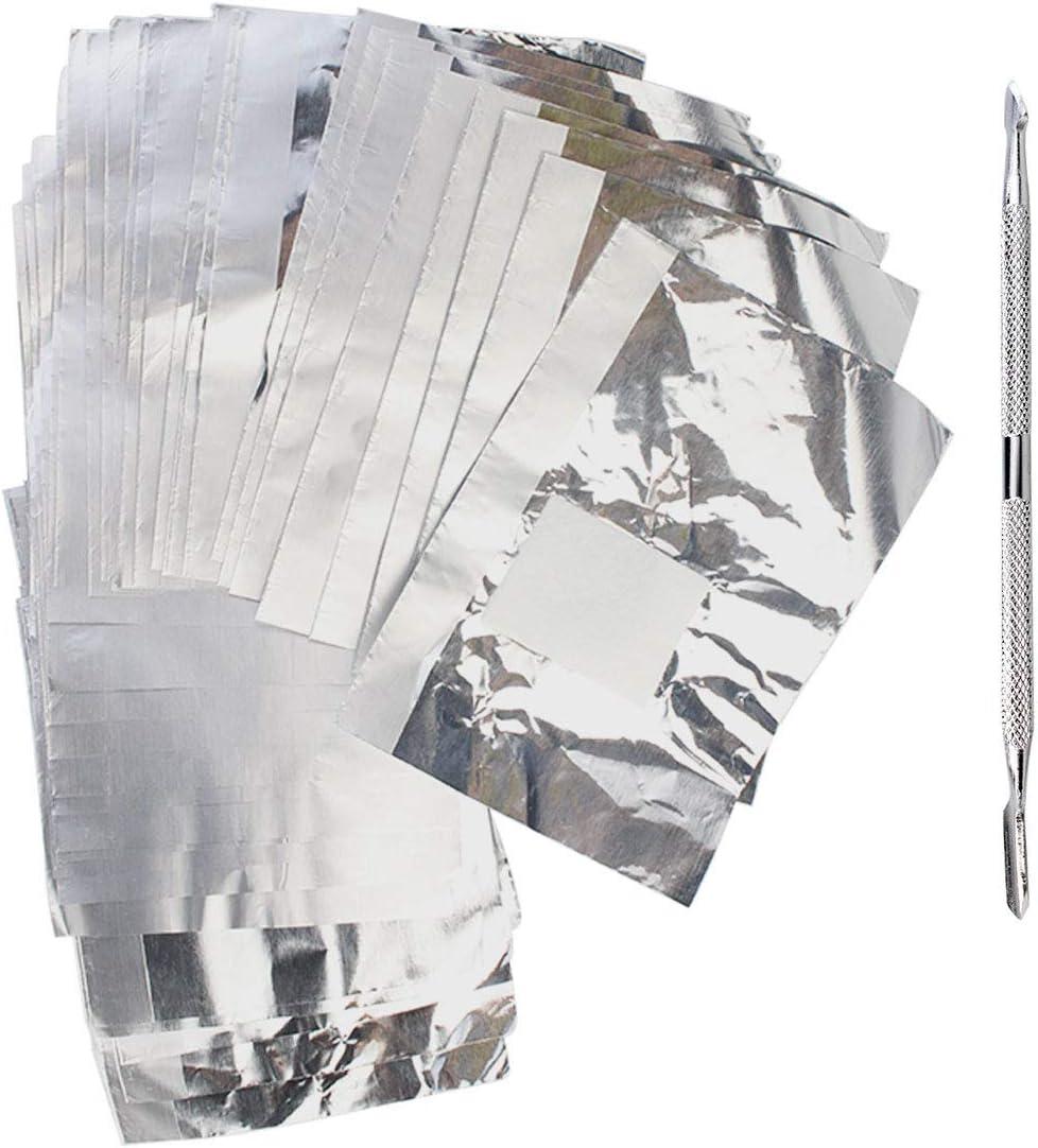 Paquete de 300 pegatinas para quitar uñas de aluminio ...