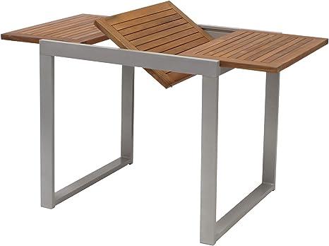 Tavolo Allungabile Per Balcone Naxos 80 120 X 70 Cm In Alluminio E Legno Di Acacia Oliato Amazon It Giardino E Giardinaggio