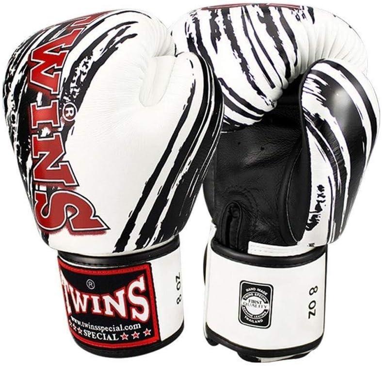 A 14oz HJBH Boxhandschuhe aus Leder, Fighting Fighting Sanda-Lederhandschuhe, Muay Thai Sandsack-Trainingshandschuh for Erwachsene (Farbe   G, Größe   14oz)