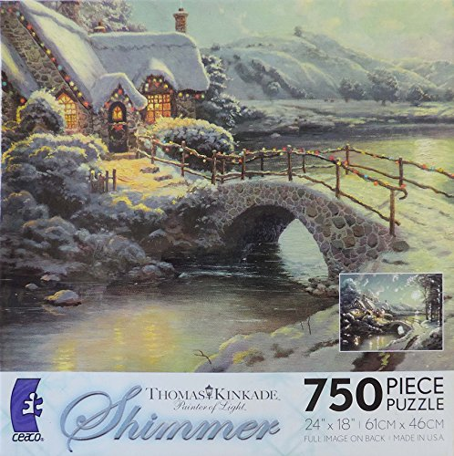 Thomas Kinkade Painter of Light Shimmer - Christmas Moonlight
