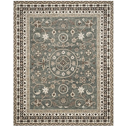 Safavieh Bella Collection BEL674A Handmade Grey and Taupe Premium Wool Area Rug 6 x 9
