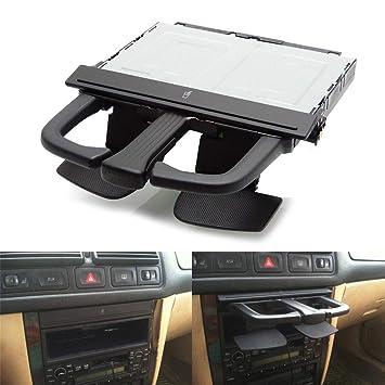 Amazon.es: Delantero Auto Soporte para bebidas Cup Holder Negro Para Volkswagen Jetta Bora Golf MK4 MKV.