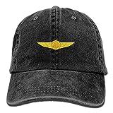 US Navy Aircrew Wings Unisex Adjustable Cotton Denim Hat Washed Retro Gym Hat FS&DMhcap Cap Hat