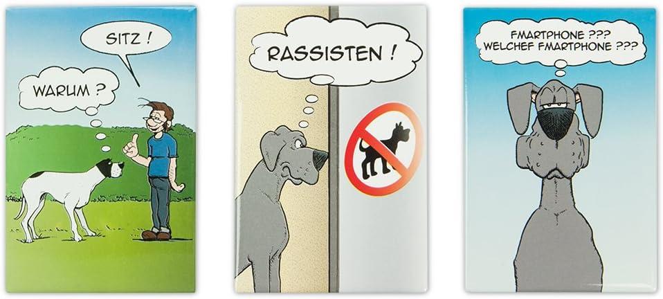 Kühlschrankmagnet dicker Hund Magnet Kühlschrank Magnetset Essen I love dogs