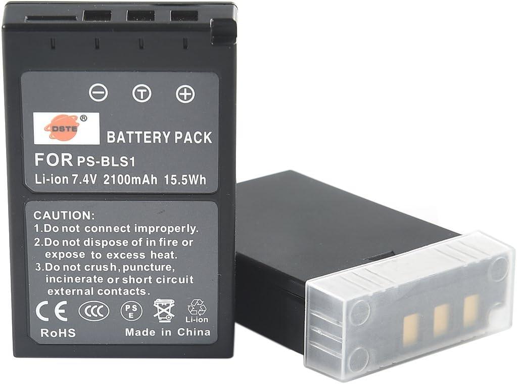 DSTE 2-Pieza Repuesto Bater/ía para Olympus PS-BLS1 BLS-1 E-400 E-410 E-420 E-450 E-600 E-620 E-P1 E-P2 E-P3 E-PL1 E-PL3 E-PM1