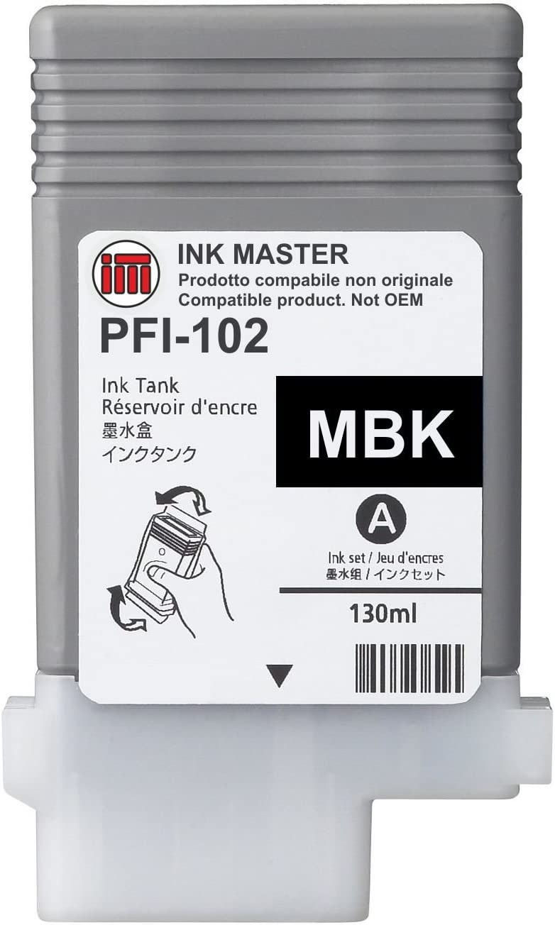 Ink Master - Cartucho remanufacturado Canon PFI-102 Matte Black ...