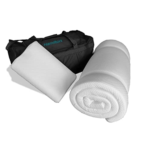 La hamilton- prima Confort almohada de viaje viscoelástica y colchón de espuma con efecto memoria Plus -7 Day garantía de devolución ...