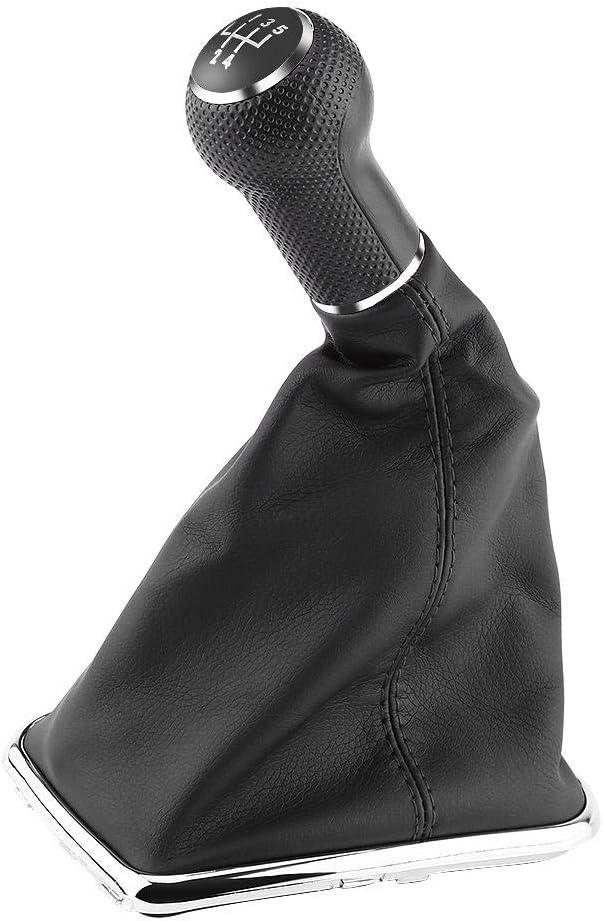 Car Gear Shifter Gearstick Gaiter Boot Kit KIMISS 5 Speed Shift Knob Gaiter Boot for VW Golf4//Jetta//Bora 1999-2004