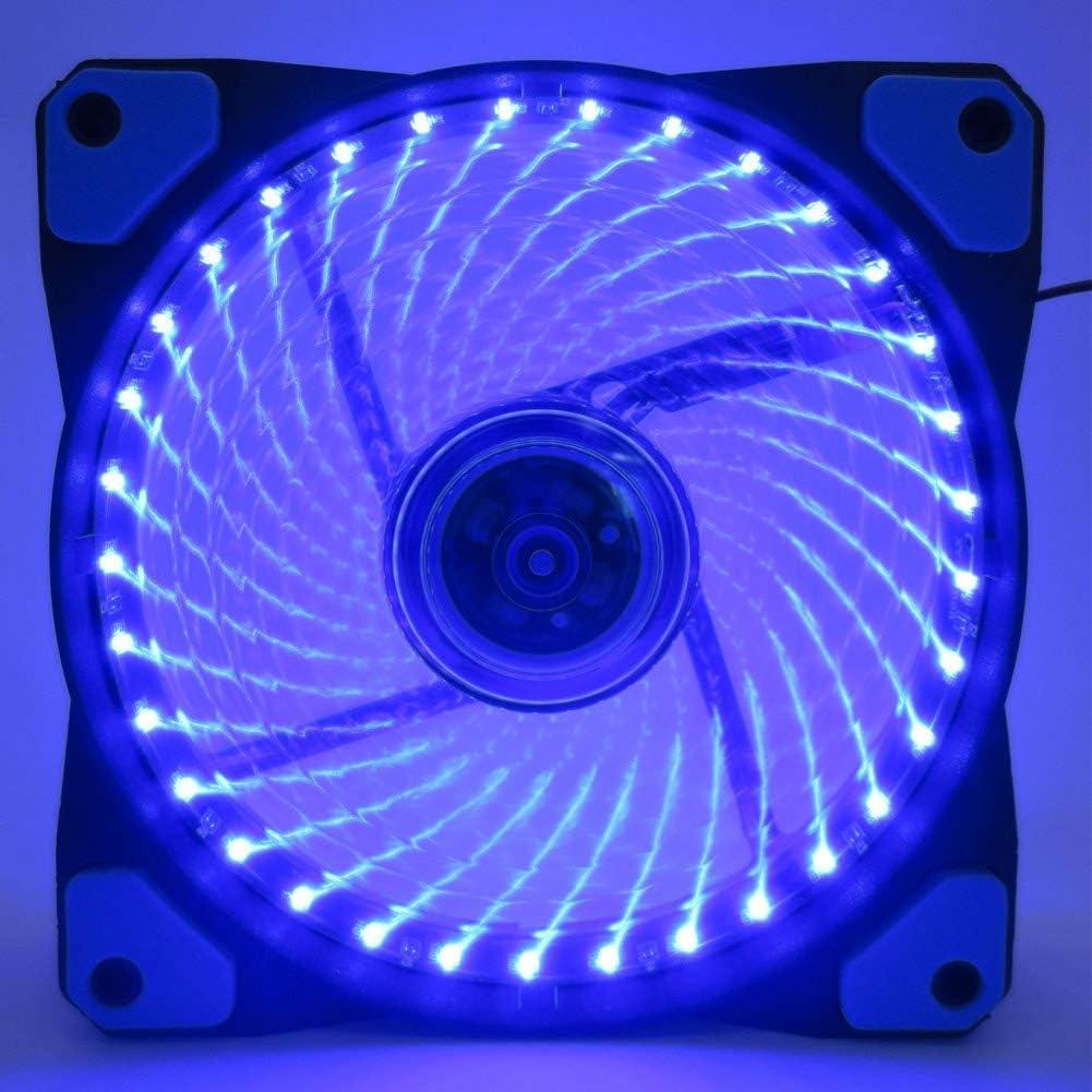 Guajave Ventiladores de Refrigeración Disipador Enfriador 12cm Luz LED Ultra Silencioso Antivibración para Ordenador PC