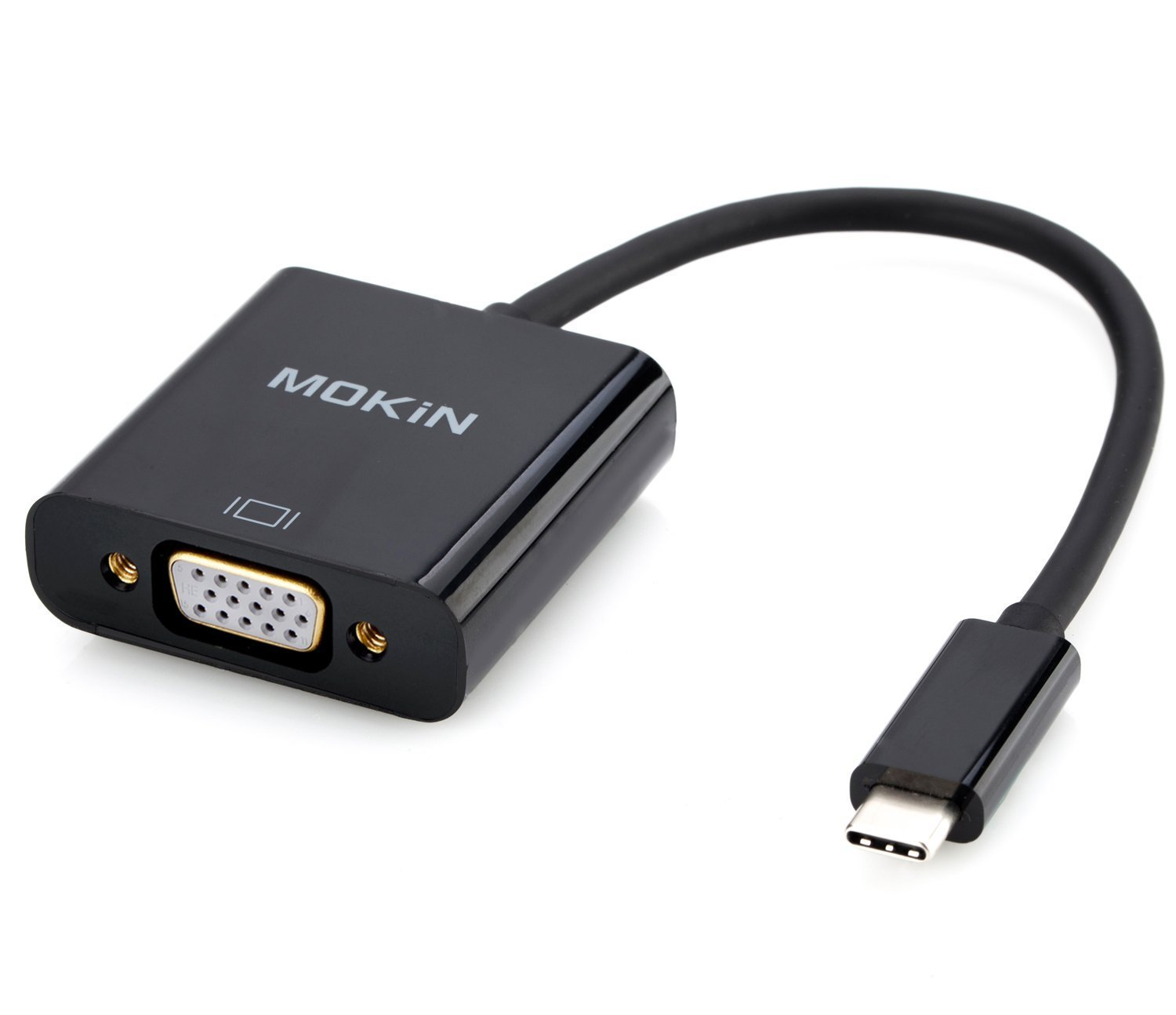 USB-C To VGA Adapter 1080P @60Hz For 2017 MacBook Pro, Lenovo 900, Dell XPS 13, HP Spectre x2 and more- Newest Updated Version … (C-VGA) by MOKiN