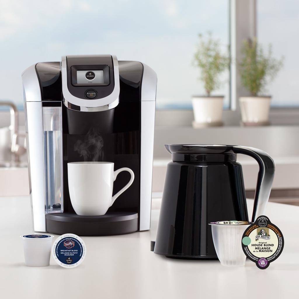 Keurig 2 0 k400 brewer black single serve coffee maker for Keurig coffee maker