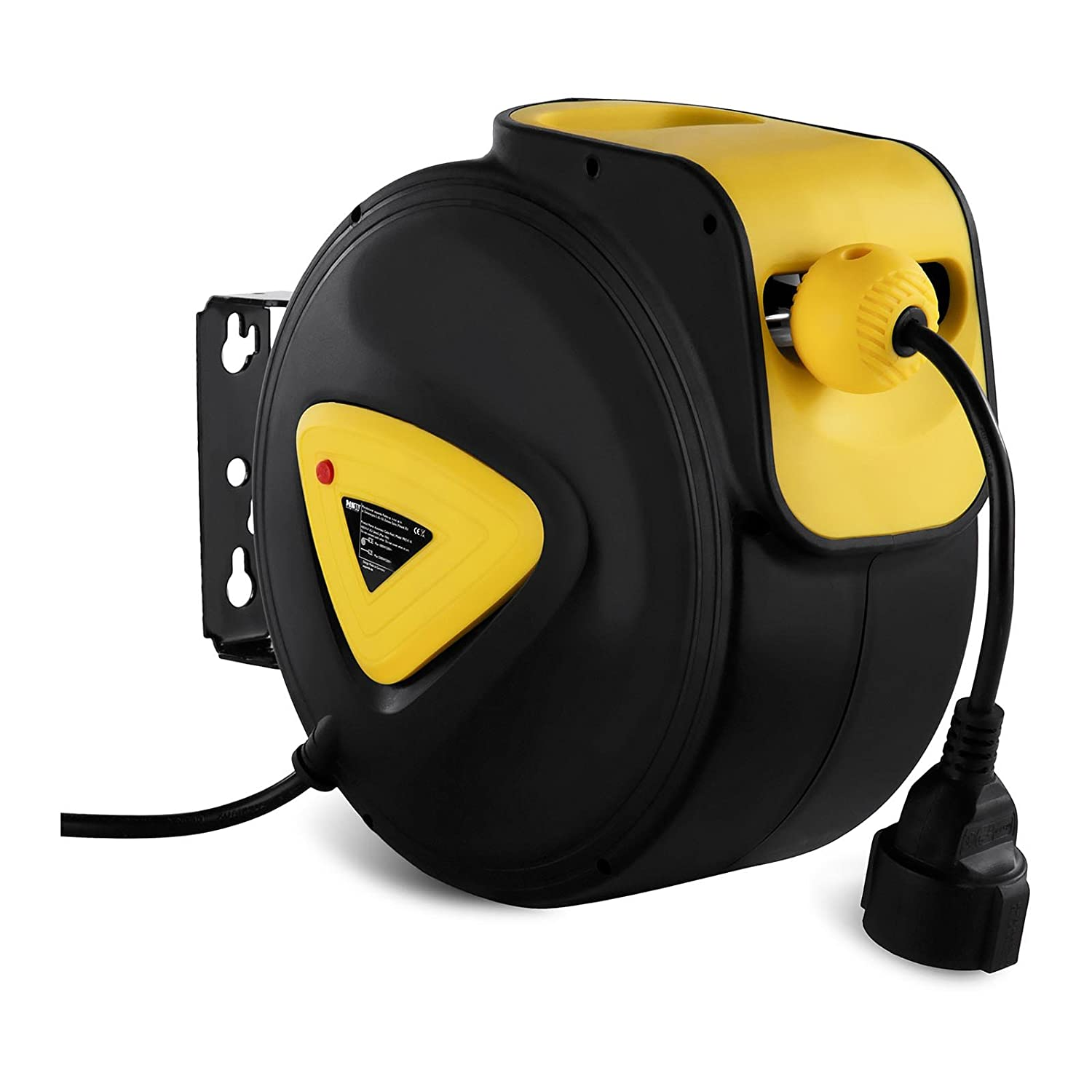 MSW Retractable Cable Reel Cord Roll-Up PRO-E 20 (20 m + 1,5 m, Intuitive Fastening of The Cable Length, Max Output, Rolled Out 2.300 W) MSW Motor Technics