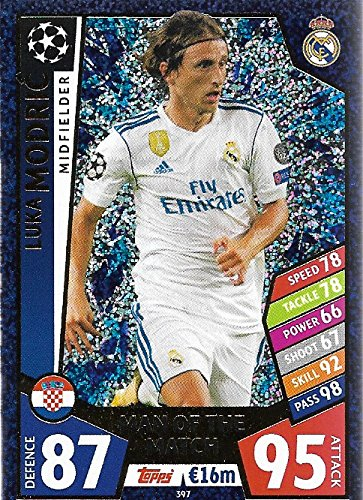 Amazon.com: Match Attax Champions league 2017/18 LUKA MODRIC ...