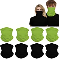 Headwear 8PCS Seamless Balaclava Bandanas Face Mask, Headband Scarf Headwrap Neckwarmer for Women Men for Motorcycling…