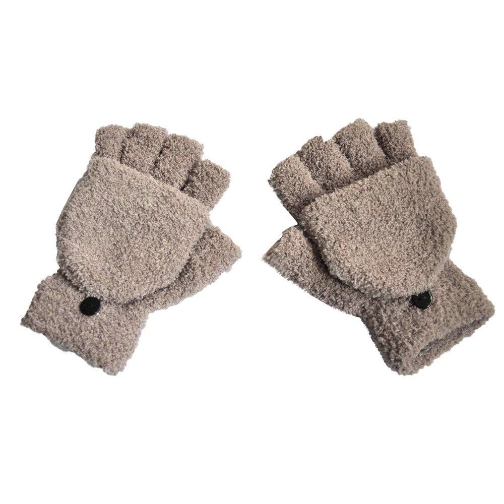 Pink Lanhui Warm Winter Gloves Mittens Women Fashion Keep Warm Gloves