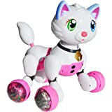 Jenx Robot Interactive Kitten | Voice Recognition Intelligent Electronic Toy Cat | Gesture Sensing Talk Sing Dance Wake-up Sleep Laugh Meow Wagging Tail Scoot Around | Don't Wait and Adopt Me Now!