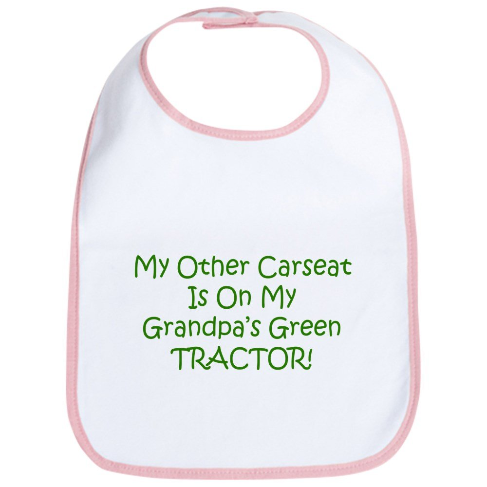 CafePress - Carseat Grandpas Green Tractor Bib - Cute Cloth Baby Bib, Toddler Bib