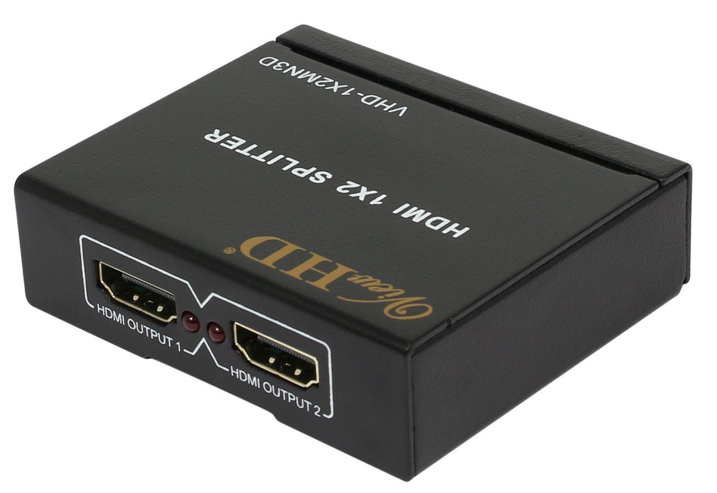 ViewHD 2 Port 1x2 Powered HDMI 1 in 2 Out Mini Splitter for 1080P & 3D | Model: VHD-1X2MN3D