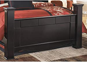 Ashley Furniture Signature Design - Shay King Poster Footboard - Component Piece - Almost Black