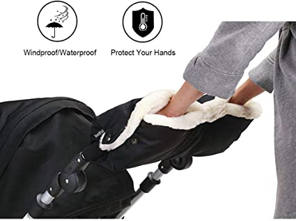 Pratique Anti-Freeze Coupe-vent manchon chauffe-Baby Buggy Pram Stroller Gants