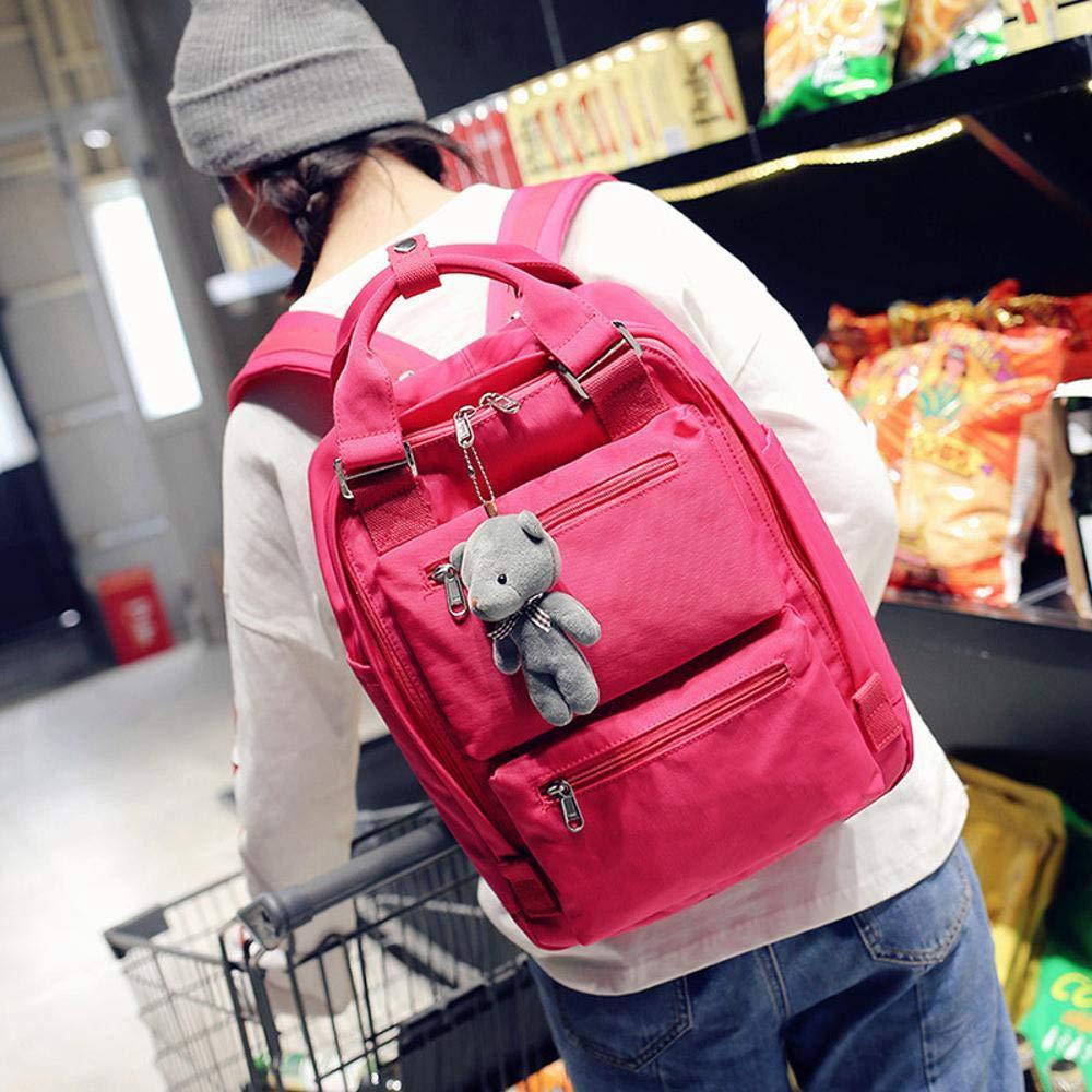 Amazon.com: Myzixuan Marca de Moda Mochila mochilas para niñas adolescentes escuela mochilas Mujeres Doble cremallera diseño de Gran capacidad escuela ...
