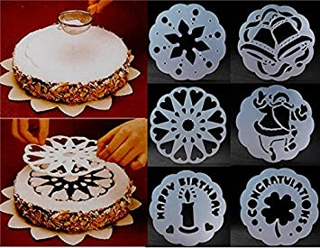 kuchen schablone kuchen muster fr 9 runden kuchen 6 stck set - Kuchen Muster