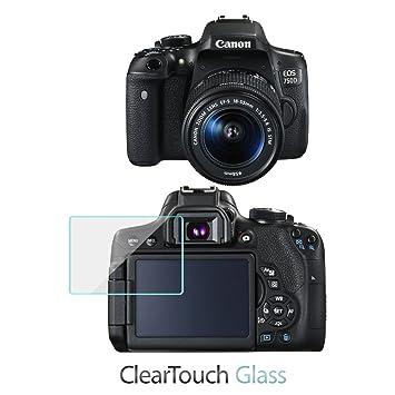 Canon EOS 750d Protector de pantalla, BoxWave® [ClearTouch cristal ...