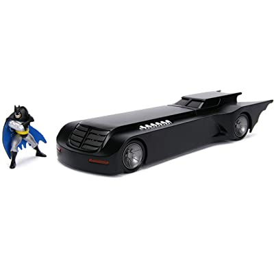 Jada Toys 1: 24 Scale Animated Series Batmobile Diecast Vehicle with Batman Figure: Toys & Games