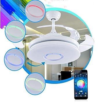 WAZTT Aplicación de música Bluetooth Ventilador Oculto ...