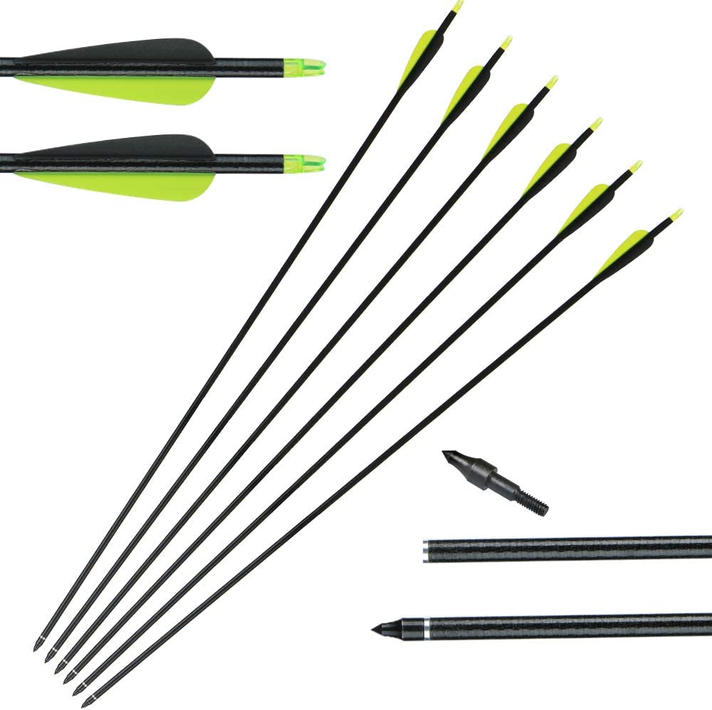 Huntingdoor 12PCS 32 Fiberglass Targeting Arrows with Replacement Screw-In Target Practice Point for Recurve and Compound Bow High Strength and Durable Special Recommendation 3 Colors Available/…