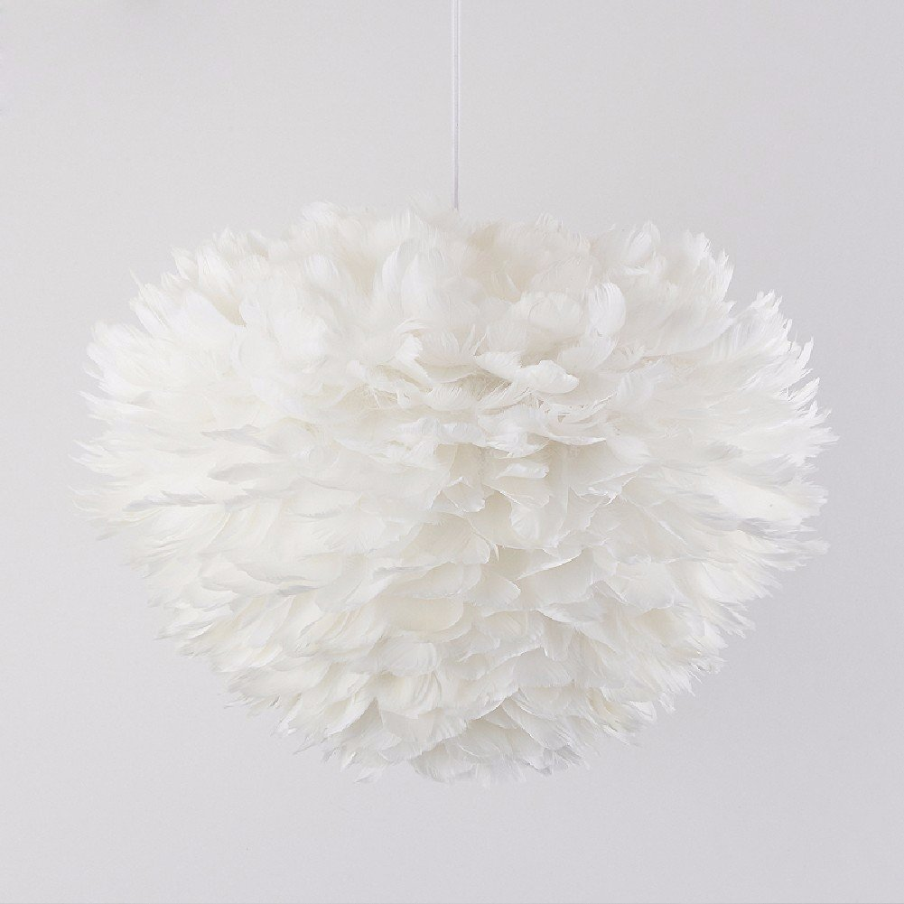 HQLCX Chandelier Nordic Simple White Pendant Lamp Bedroom Living Room Romantic Wedding Room Lamp by HQLCX-Chandeliers