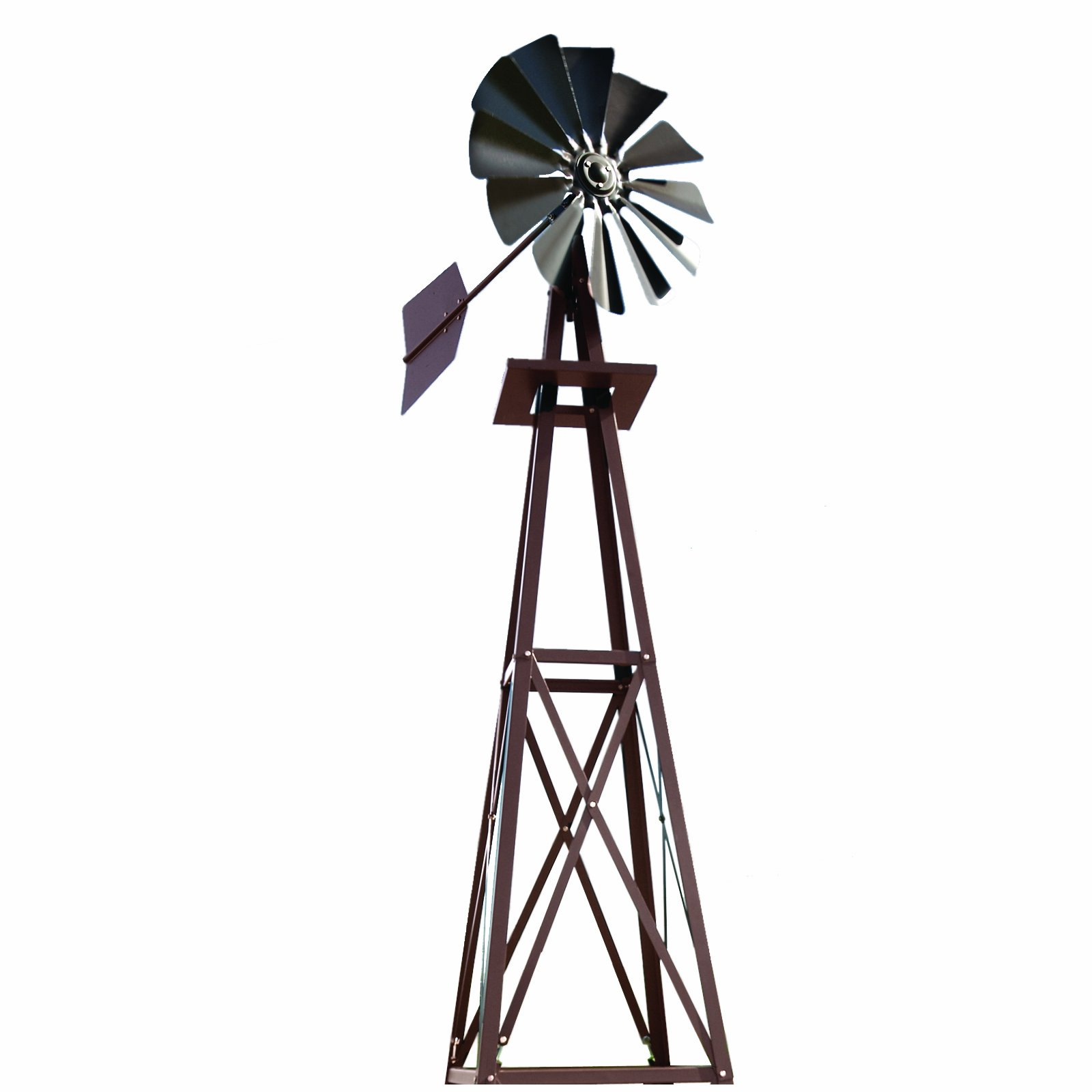 Outdoor Water Solutions 9-Foot Bronze Powder Coated Backyard Windmill