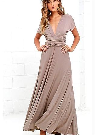 c7f03cb596 YHX Women's Multi Way Wrap Convertible Infinity Long Maxi Dress (XS,  Apricot)