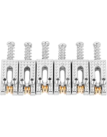 Saddle for Electric Guitar, 6 Roller Bridge Saddles for Fender Strat Tele Electric Guitar 4