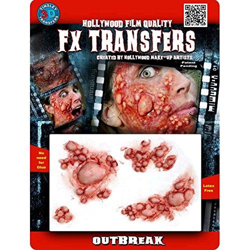 Tinsley Transfers  Outbreak, Flesh/Multi, One -