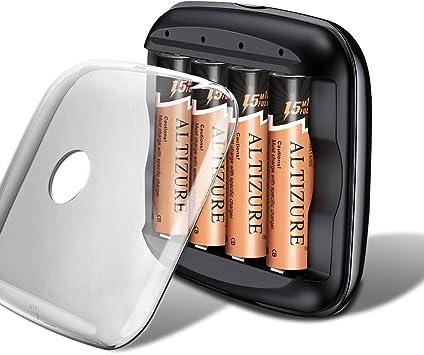 Amazon.com: ALTIZURE - Cargador de batería AA recargable de ...
