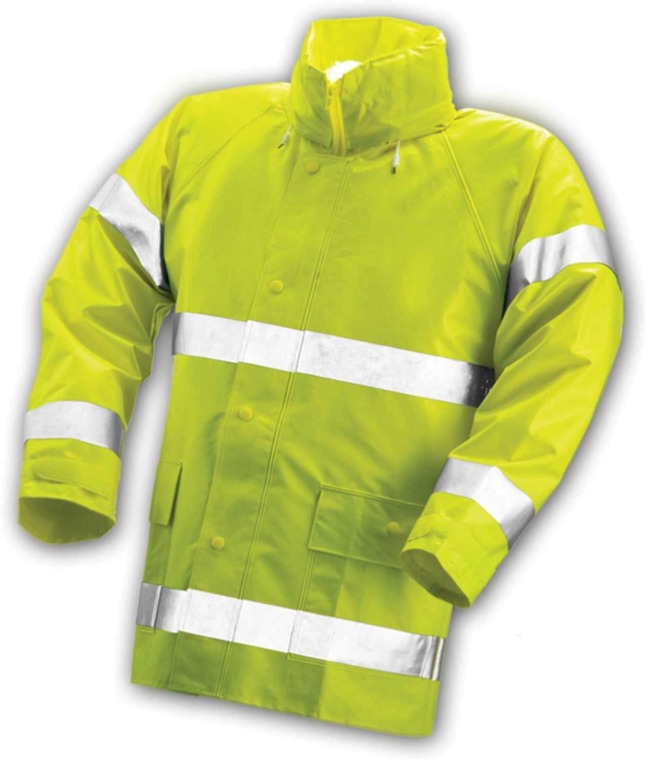 B000BQR0OW COMFORT-BRITE J53122.LG .35mm Hi-Visibility Jacket with Reflective Tape, Large, Fluorescent Lime/Yellow 61zABENk8RL