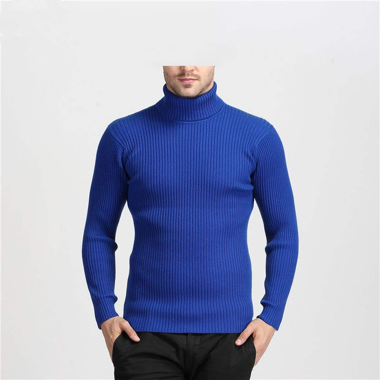 Men Turtleneck Mens Sweaters Slim Fit Pullover Men Classic Wool Knitwear