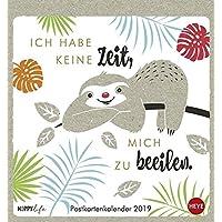 Faultier Postkartenkalender - Kalender 2019