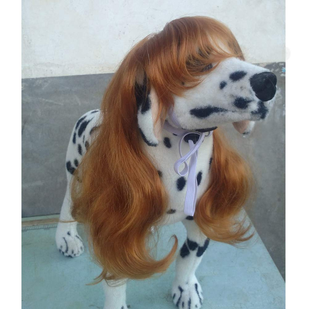 Yevison Fashion Pet Long Curly Hair Qi Liu Dog Dog Dressing Girl Tiara Props Headgear Supplies Headgear Hat