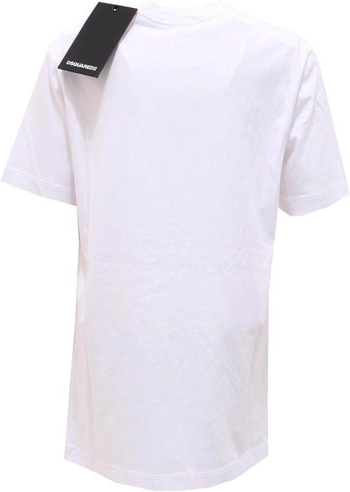 DSQUARED2 6594AB Maglia Bimbo Boy Cotton Weathered Look t-Shirt ...