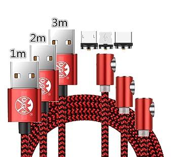 Kit combinado de 3 paquetes, cable magnético 90 grados ...