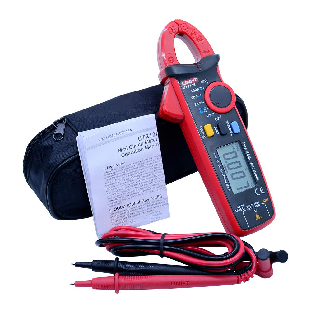 UNI-T Current clamp meter mini AC DC current 100A TRMS auto range digital clamp meter VFC NCV zero mode function data hold LCD backlight