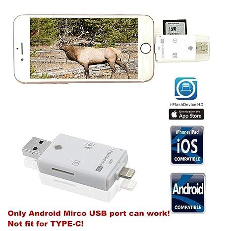 Cámara de caza tarjeta SD lector viewer- tuop 3 en 1 Micro ...