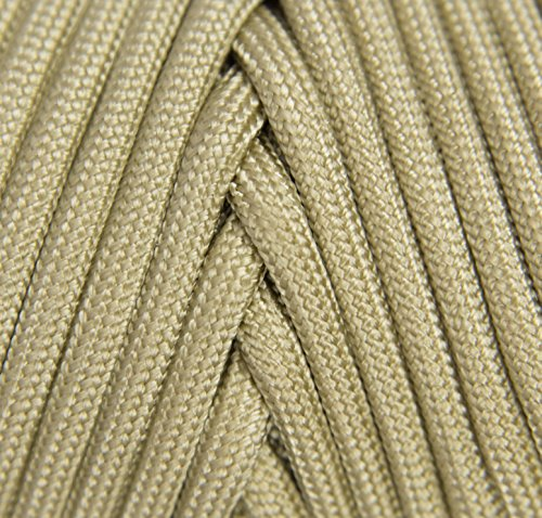 TOUGH-GRID 750lb Buckskin (Desert Sand) Paracord/Parachute Cord - Genuine Mil Spec Type IV 750lb Paracord Used by The US Military (MIl-C-5040-H) - 100% Nylon - Made in The USA. 500Ft. - Buckskin by TOUGH-GRID (Image #2)