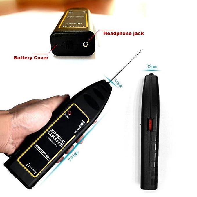 GOFORJUMP Estetoscopio electrónico automotriz EM410, motor automotriz y detectores anormales del sonido del motor. Repare la mejor herramienta para el ...