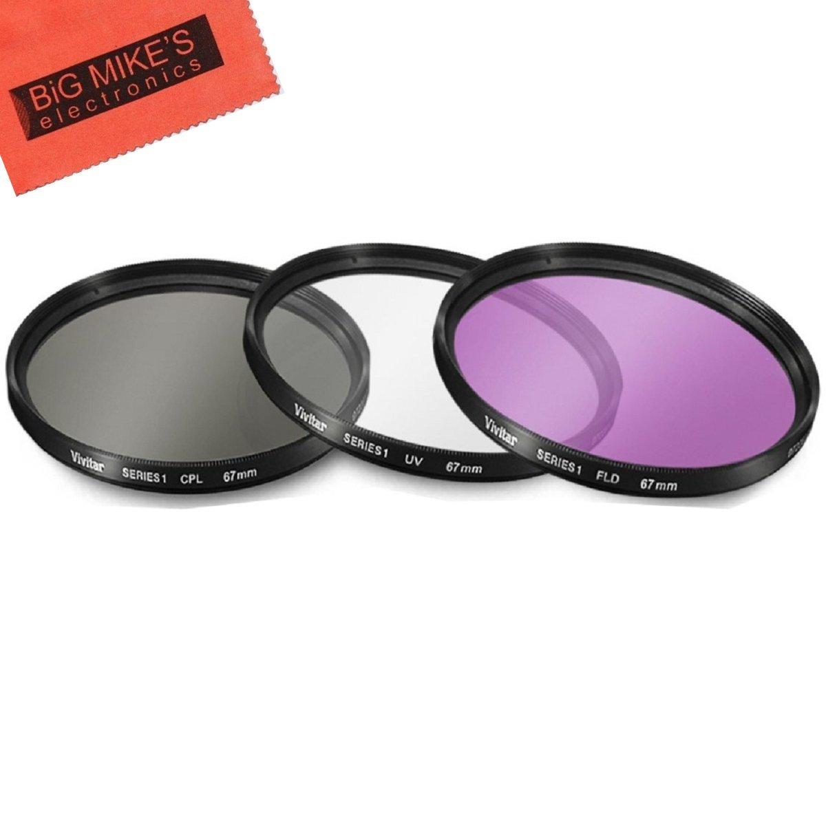 67mm Multi-Coated 3 Piece Filter Kit (UV-CPL-FLD) for Nikon CoolPix P900 Digital Camera