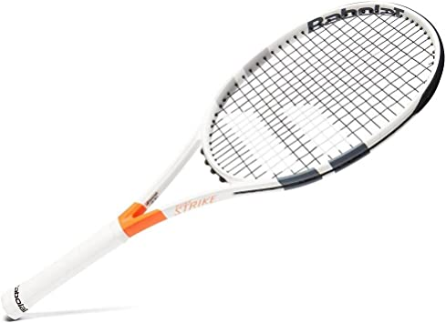 Amazon.com : Babolat Pure Strike 100 Tennis Racket, White ...