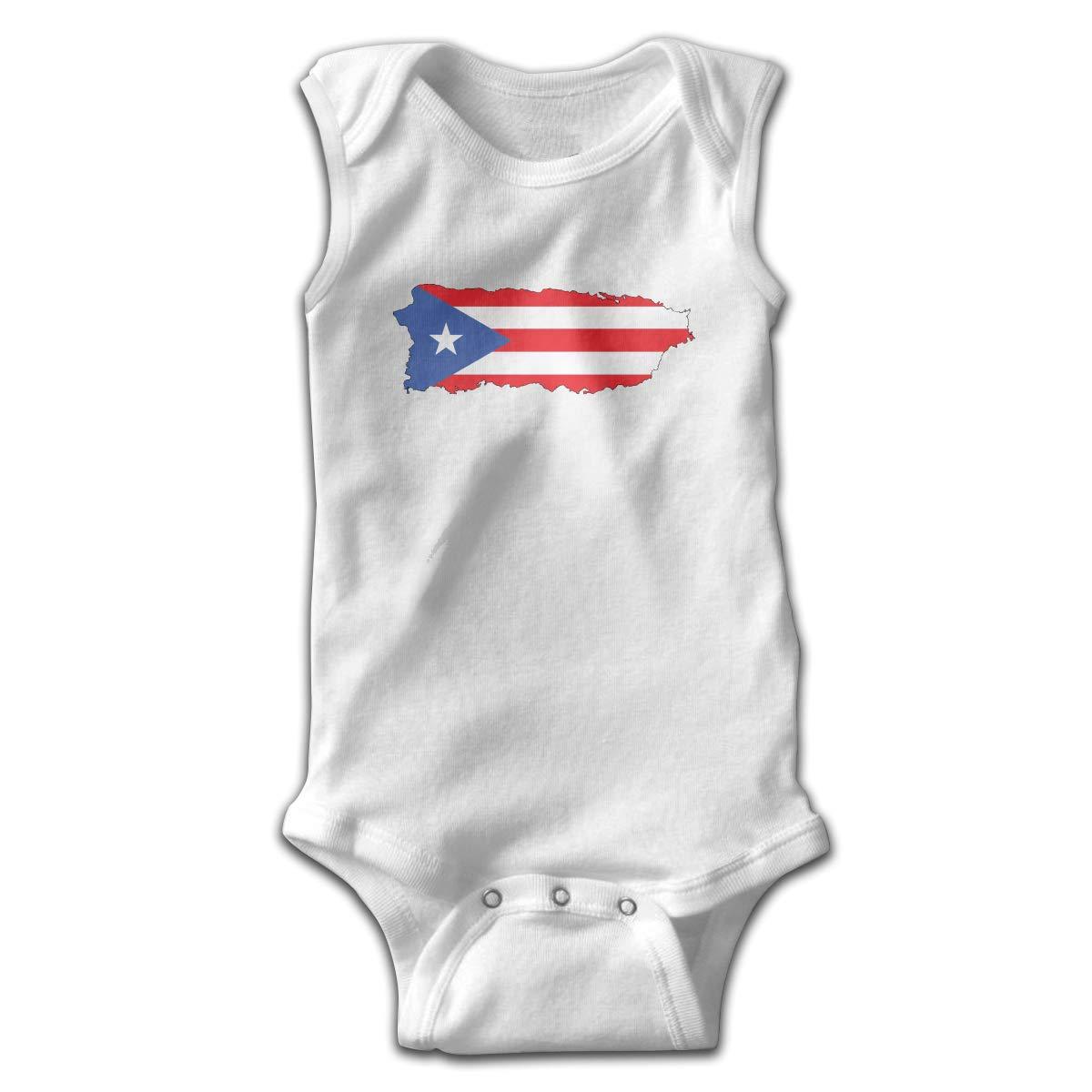 HR Puerto Rico Flag Smalls Baby Onesie,Infant Bodysuit Black